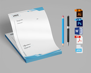 I will Design Professional and Amazing Editable Letterhead template MS Word