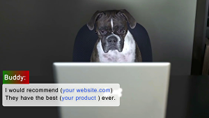I will customize this  dog  for business advertising