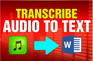 I will transcribe 5 minutes of audio (English)