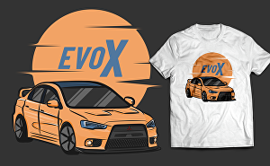 I will do vector illustration cars for your t-shirt in 48 hours