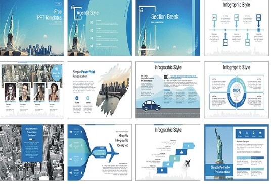 design a modern and clean Powerpoint presentation