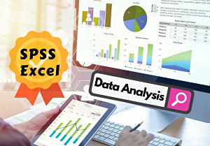 I will do statistical data analysis using SPSS or Excel