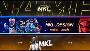 I will design Youtube channel art or banner