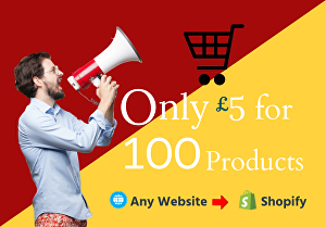 I will do shopify product listing or upload manually