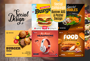 I will Design 3 Banners for Social Media Website