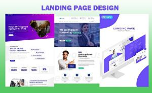 I will create a modern WordPress landing page website using Elementor