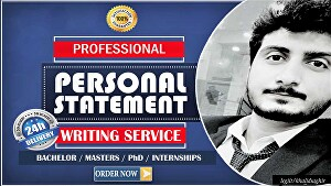 I will write a persuasive personal statement, scholarship essay or statement of purpose