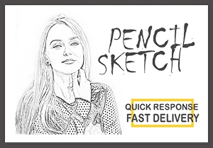 I will draw digital pencil sketch from your photo