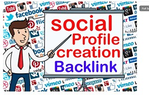 I will do manually 100 Profile  Creation and Add live backlinks