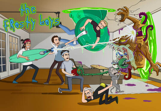 Draw you into Rick and Morty Character Cartoon style