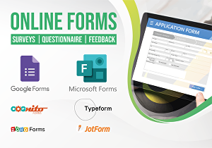 I will Create Google Forms, Microsoft Forms, Survey Forms and Online Forms