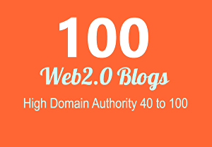 I will Build 100+ Back link, web 2.0 and Do follow with high DA/PA in your web page with unique w