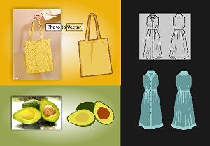 I will create vector tracing or convert vector images to cartoon illustrations