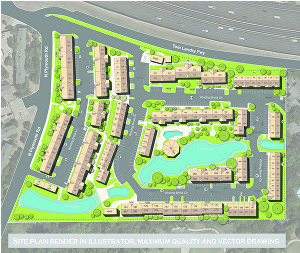I will do vector map or site plan illustration or rendering