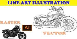 I will do minimalist Vector drawing line art illustration