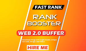 I will Build 30 web 2.0 Buffer Blogs and 20 bookmarking backlinks for SEO