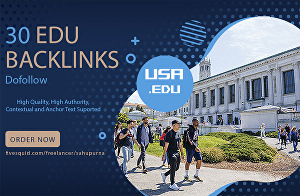 I will provide 30 EDU backlinks from top USA universities