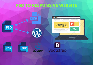 I will convert Psd to Html5 and make website Responsive using Bootstrap4