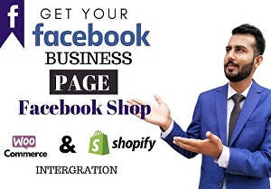 I will Create Professional Facebook shop and setup Facebook business page, fan page