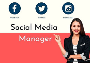 I will Be your social media manager, designer