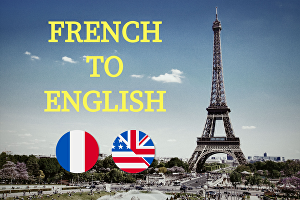 I will translate any text from French to English