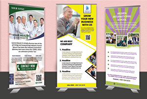 I will create a roll up banner