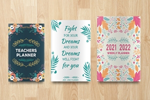 I will design a floral cover calendar planner illustration for your book Ebook KDP CreateSpace