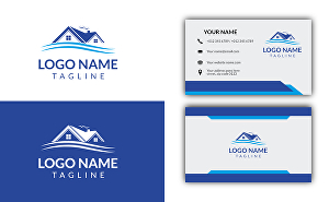I will design real estate logo with business card