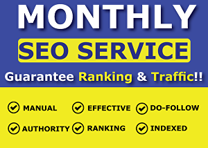 I will do Monthly SEO Service for Top Google Ranking & Traffic