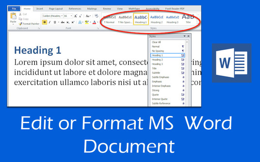 edit or format MS  Word Document