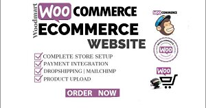 I will create a WordPress e-commerce website with WooCommerce and Woodmart theme