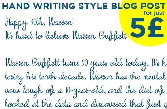 cursive hand writing font style blog post for you