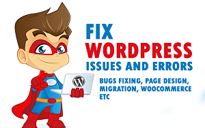 I will fix Your WordPress  Issues or Errors