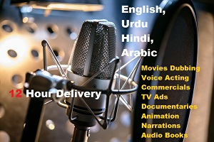 I will Record English Urdu & Hindi Voice over