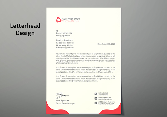 Design Stylist and Eye catching  Letterhead and Order Form