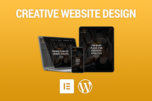 I will Design & Build a Responsive Website with Wordpress &  Astra Elementor