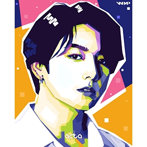 I will make wpap pop art portrait of your face