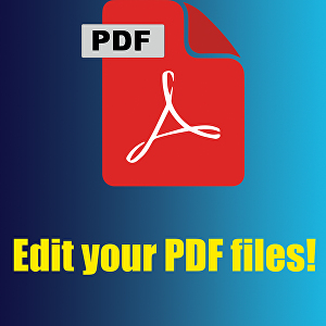 I will edit your PDF files