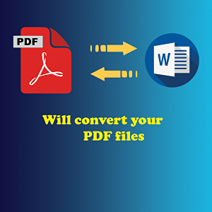 I will convert documents, change file types