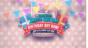 I will make birthday promo video