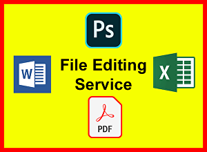 I will edit PDF, Images, Documents and Fillable Forms