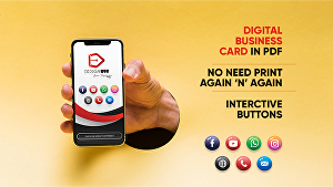 I will do mobile digital business card design for your business