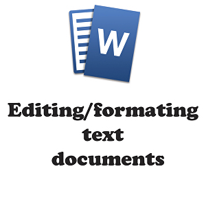 I will edit any text document