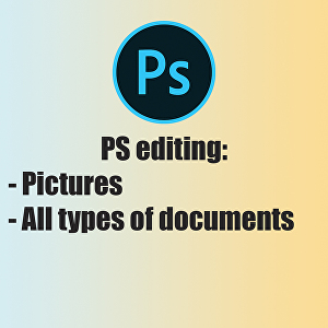 I will edit anything in Photoshop