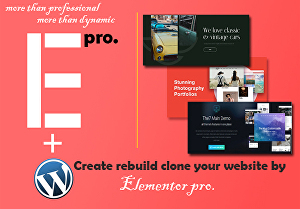 I will  create or rebuild WordPress website by Elementor Pro