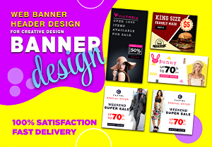 I will design professional social media banner, Header and web banner