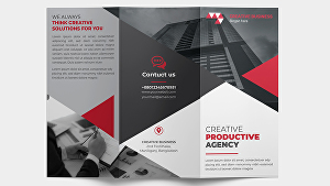 I will do corporate business and minimal trifold brochure design