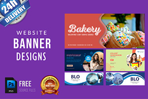 I will design website banner ads, banner design,product ad,slider