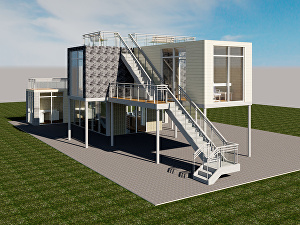 I will Convert your Architectural floor plan into a 3D model with two Render Images