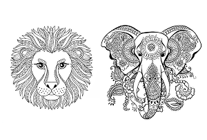 I will do adult coloring book animals, mandala, mermaid and so on